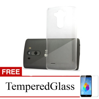 Case for LG Magna - Clear + Gratis Tempered Glass - Ultra Thin SoftCase