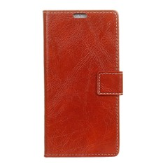 Case for LG U Crazy Horse Pattern Leather Wallet Case Cover (Red) - intl