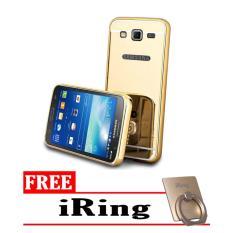 Case for Samsung Galaxy J5 2015 (J500) 2015 Aluminium Bumper WithMirror Backdoor Slide -