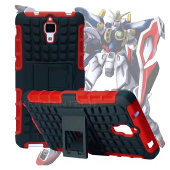 Gambar Case for Xiaomi Mi 4 Robotic Rugged Armor With Kickstand Red