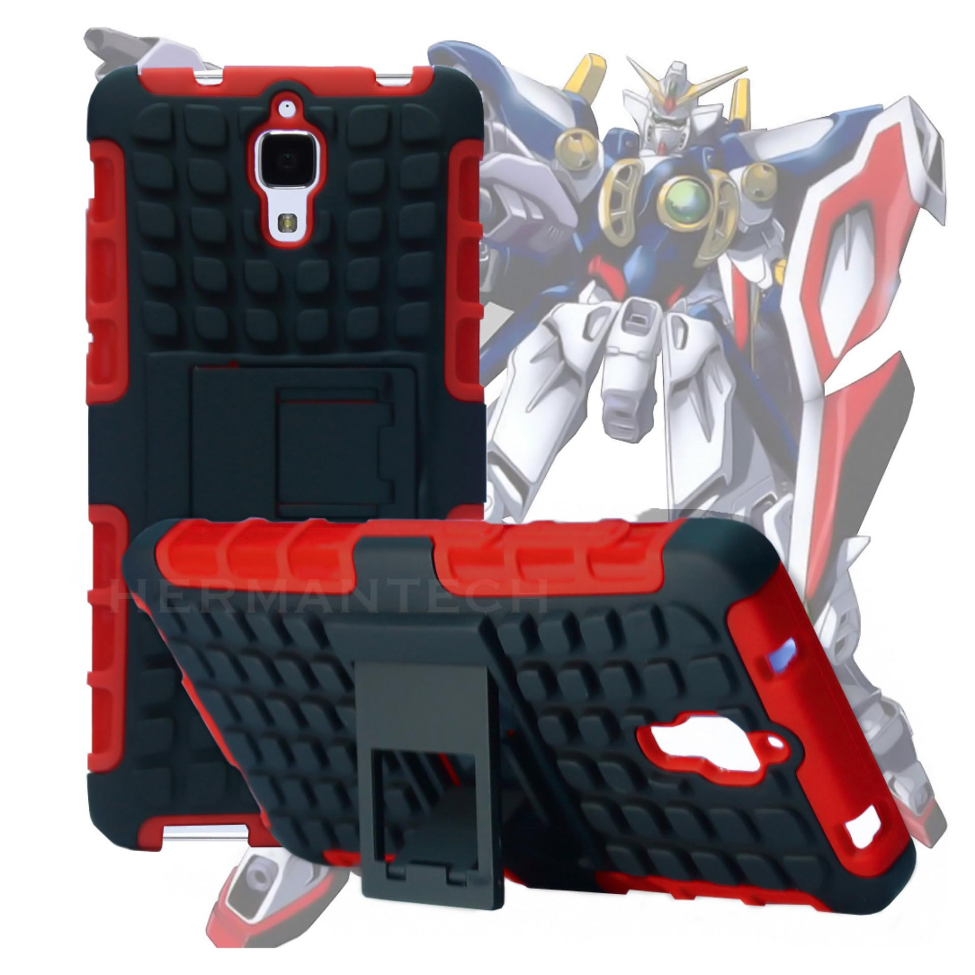 ... Case for Xiaomi Mi 4 Robotic Rugged Armor With Kickstand - Red ...