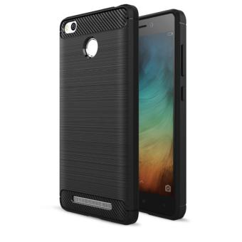 Case For Xiaomi Redmi 3s / Xiaomi Redmi 3 Pro Slim Carbon Shockproof Hybrid Case Series- Hitam