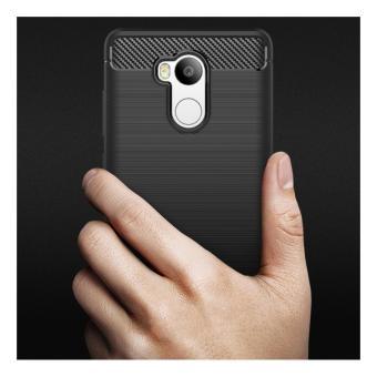 ... Case For Xiaomi Redmi 4 Prime Slim Carbon Shockproof Hybrid Case Series- Hitam - 5