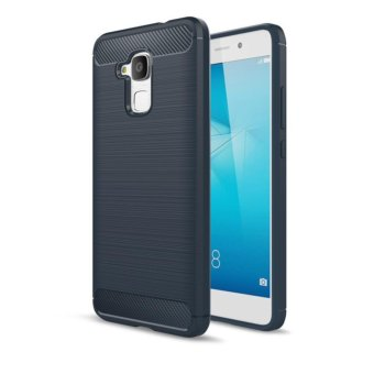 Case For Xiaomi Redmi 4 Prime Slim Carbon Shockproof Hybrid CaseSeries- Biru Navi - 2