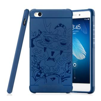 Case For Xiaomi Redmi 4a Dragon Shockproof Hybrid Series - Biru Navi