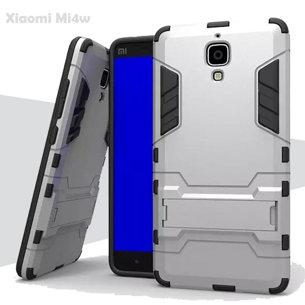 Case Iron Man for Xiaomi Mi4w Robot Transformer Ironman Limited -Silver .