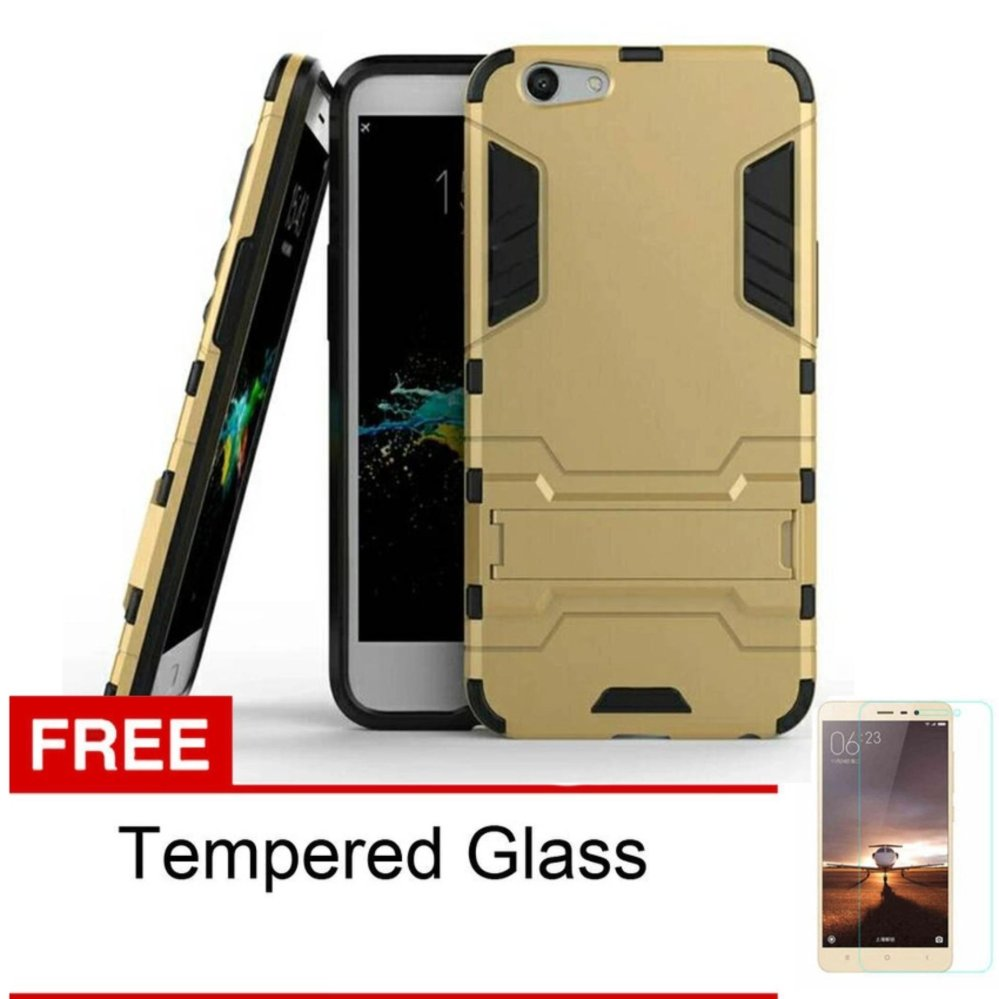 Case Oppo F1S A59 Transformer Robot Casing Iron Man - Gold + Free Tempered Glass