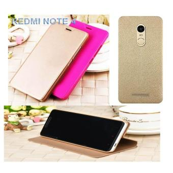Case Original Flip Cover Xiaomi Redmi Note 4 - Gold