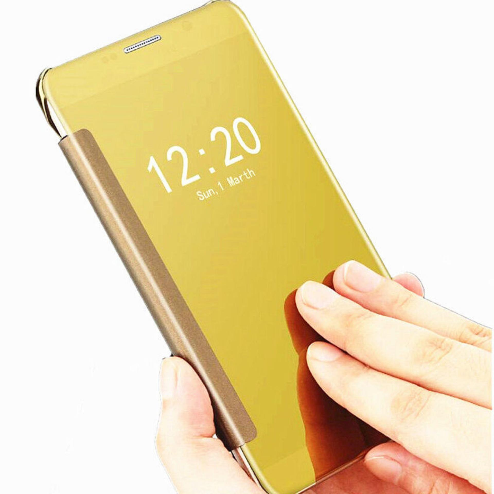 Case Plating Mirror Premium Clear View Case Cover Dormance for Samsung Galaxy Note 5 .