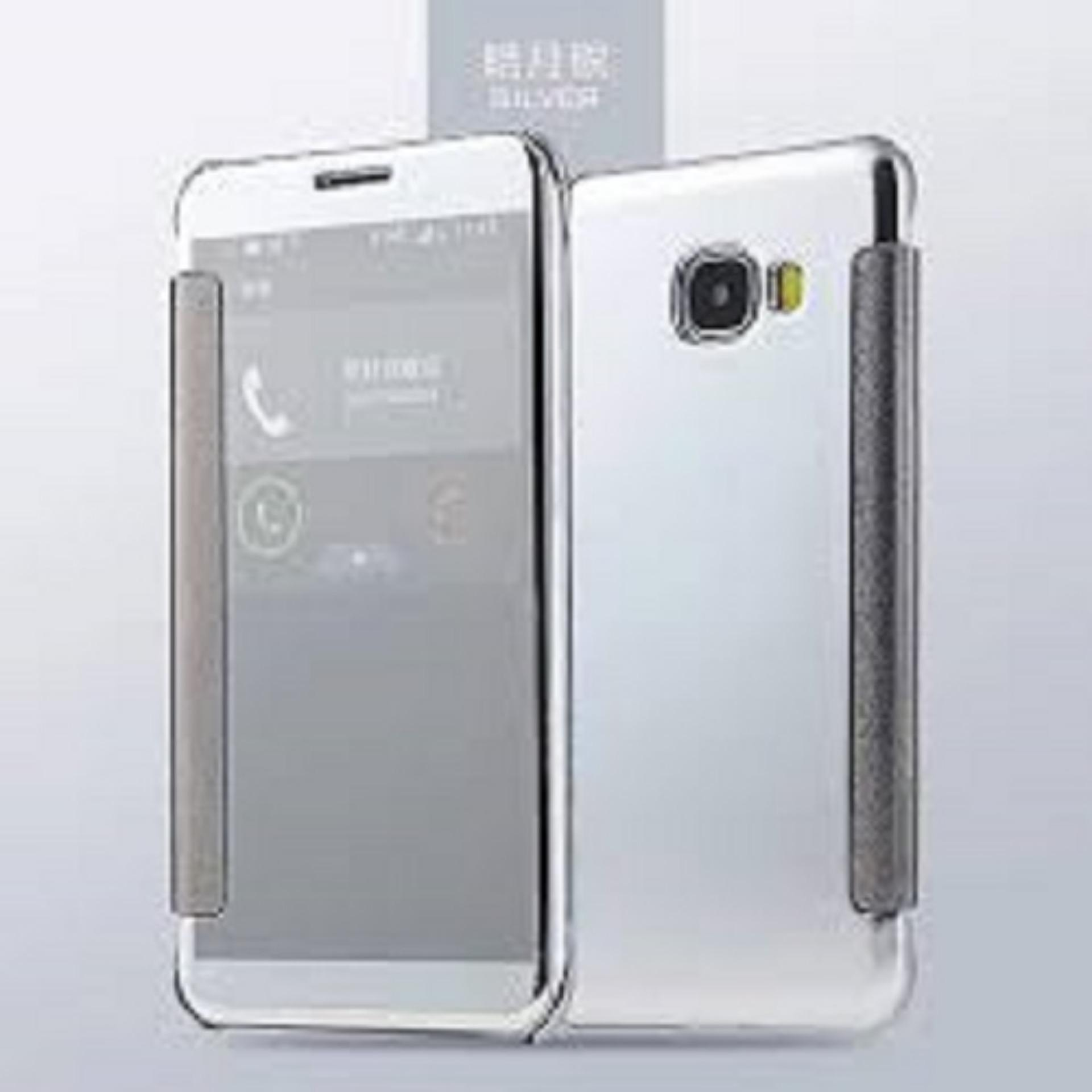 Case Plating Mirror Premium Clear View Case Cover Dormance forSamsung Galaxy J3 2016