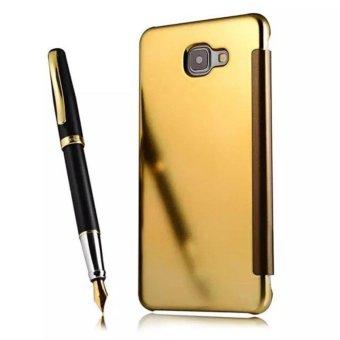 Case Samsung Galaxy A5 2017 Flipcase Flip Mirror Cover S ViewTransparan Auto Lock Casing Hp -