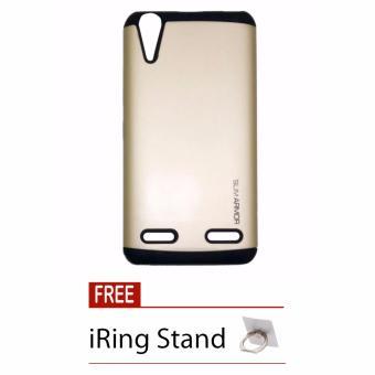 Gambar Case Slim Armor for Lenovo K3 A6000 A6010 Emas + Free iRing Stand