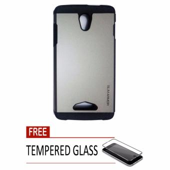 Case Slim Armor Oppo Yoyo / R2001 - Abu-abu + Free Tempered Glass