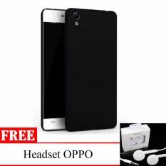 Case Slim Black doff Matte Oppo Neo 9 / A37 Softcase Anti minyak + free Headset OPPO