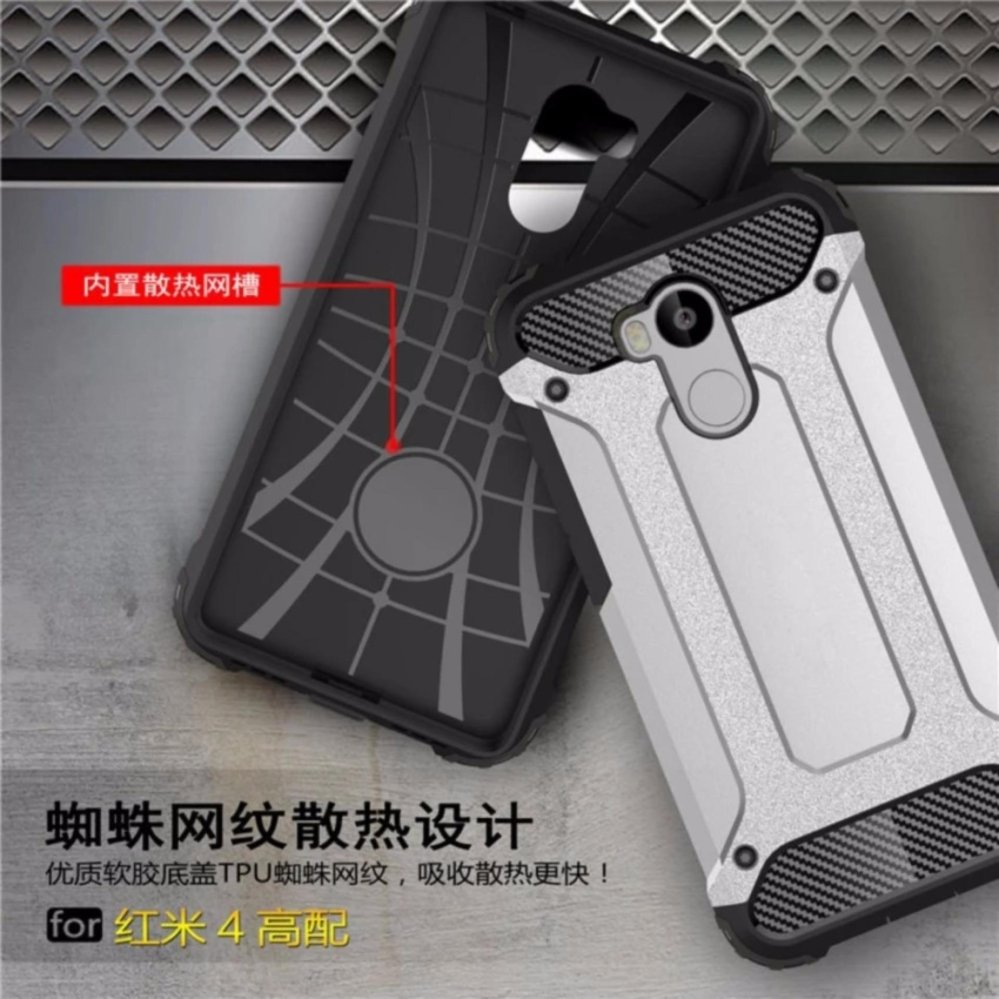 CASE TOUGH ARMOR CARBON FIBER 2 LAYER FOR OPPO A39 / A57 - BLACK ...