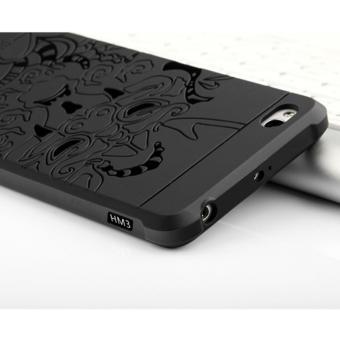 Case TPU Dragon Back Cover Silikon Original for Xiaomi Redmi 3 -Black .