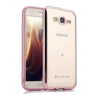 Case Ultrathin Shining Chrome Untuk Samsung Galaxy J5 Duos Lama /J5 2015 - Rose Gold