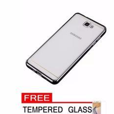 Case Ultrathin Shining List Chrome Samsung Galaxy J2 Prime Black +Gratis Tempered Glass