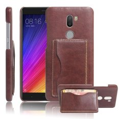 Case untuk Xiaomi Mi 5 S Plus Hard PC Kartu Slot Leather Case-Brown-Intl