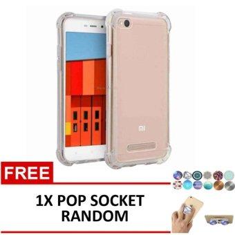Gambar Casing Anti Shock Anti Crack Elegant Softcase for Xiaomi Redmi 4a Clear + Free 1x