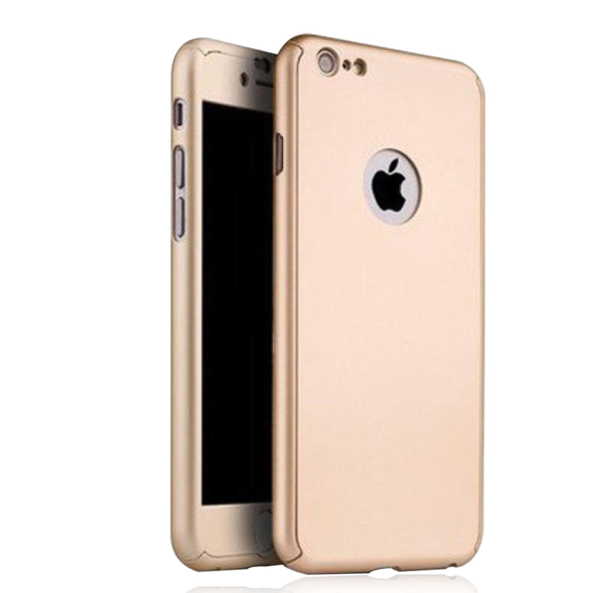 Casing Full Cover Hardcase 360 Free Tempered Glass For Iphone 6/6s