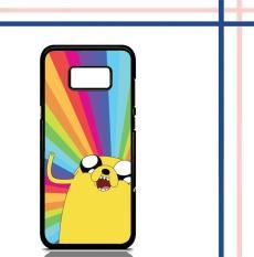 Casing HARDCASE untuk hp Samsung Galaxy S8 Plus Adventure Time Jake Rainbow F110