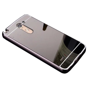 Gambar Casing Metal Aluminium Bumper Mirror for LG G3 Stylus Black
