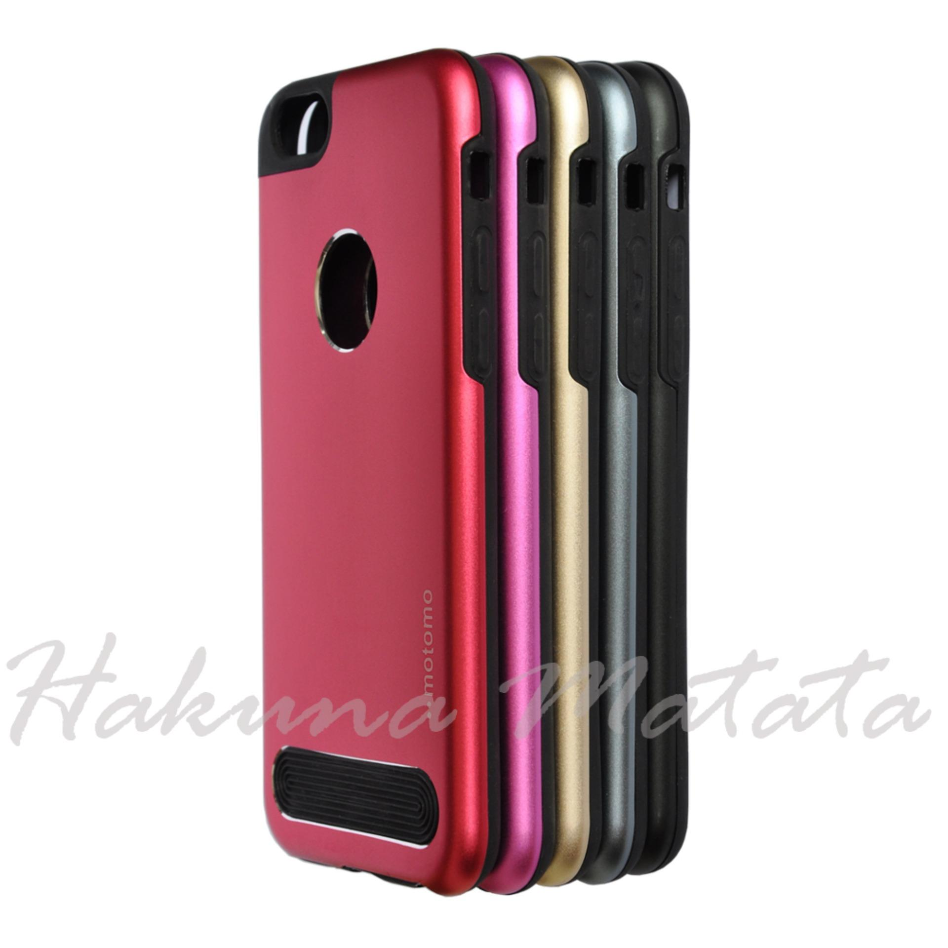 Casing Motomo Case TPU Metal Double Layers Apple iPhone 6 / 6s .