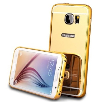 Casing Samsung Galaxy S6 Casing Bumper Mirror - Gold