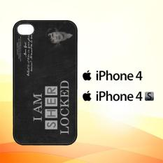 Casing Untuk iPhone 4 4s Benedict Sherlock Wallpaper Movies E1117