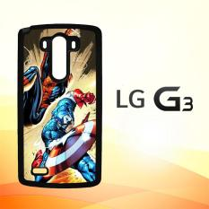 Casing Untuk LG G3 CAPTAIN AMERICA VS SPIDERMAN Y0204