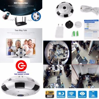 CCTV 360 Panoramic IP Cam - Kamera Wifi Panorama - V380 Everio Camera