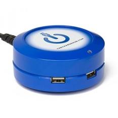 ChargeHub X3-3-Port USB SuperCharger 2.4A Per Port/25 W-SmartSpeed Teknologi untuk IPhone 7 /6 S/Plus, IPad Pro, Samsung Galaxy S8/S7, Google Pixel, LG, Nexus, HTC dan Lainnya-Round (Biru)-Intl