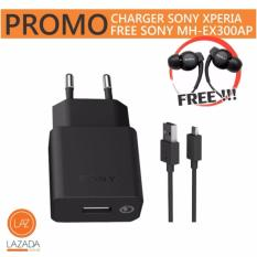 Charger Sony Xperia - Fast Charging (Bonus Headset Sony MH-EX300AP)
