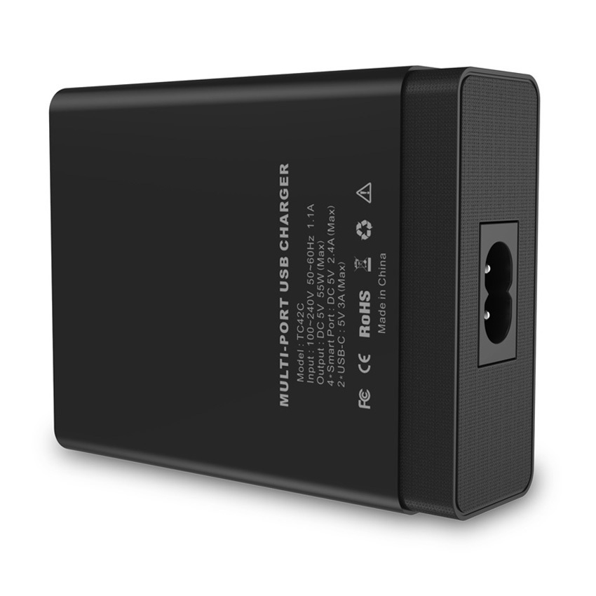 CHOETECH 55W Multi USB Type C Charger with Dual USB C Ports &