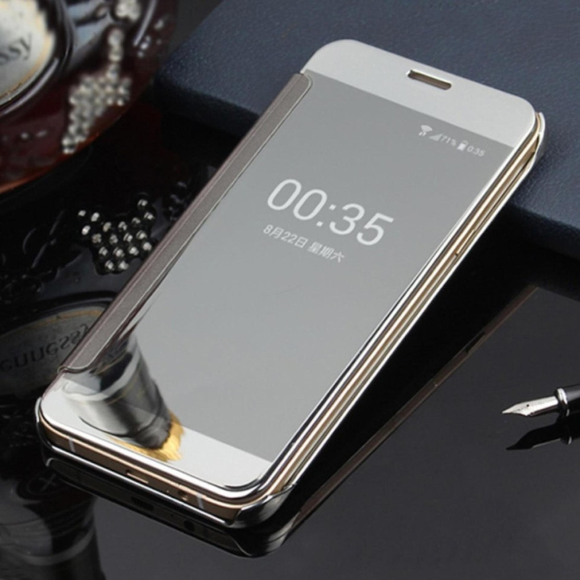 ... Clear View Flip Cover Softcase Casing Mirror Autolock Samsung S7EDGE ...