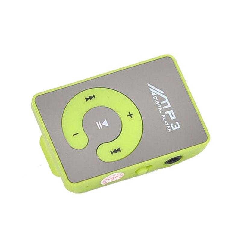 coconie Mirror Clip USB Digital Mp3 Music Player Support 1-8GB SDTF Card - intl