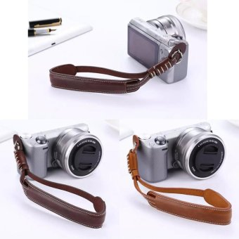 harga Coffee PU Leather Camera Hand Grip Wrist Strap Rope For SamsungNX3000 NX2000 NX1000 NX500 NX300 NX200 NX300M (intl) - intl Lazada.co.id