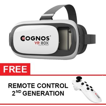 Cognos Virtual Reality Glasses VR Box Smartphone Virtual 3D Glasses- Gratis Remote Control 2ND Generation