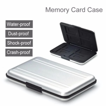 Harga Crony 16 Slot Aluminum Waterproof UHS-I SD Micro SD SDHC SDXCSecureDigital Memory Card wallet Carrying Case - intl