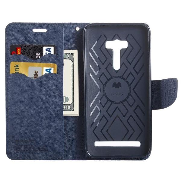... Cross Texture Case Kulit Warna Flip Horisontal dengan Holder danSlot Kartu dan Dompet untuk Asus Zenfone ...