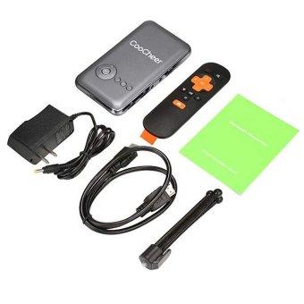 Cyber COOCHEER rumah kolam Mini portabel isi ulang Wifi Smart DLP proyektor EU (abu-abu) - International - 3