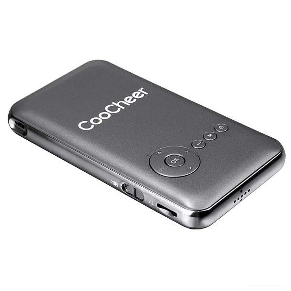 ... Cyber COOCHEER rumah kolam Mini portabel isi ulang Wifi Smart DLP proyektor EU (abu- ...