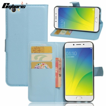 Cyboris Multifunctional PU Leather Magnetic Flip Wallet Case BookCover for OPPO F3 Plus/ R9S Plus Phone Protective Skin Cases - intl