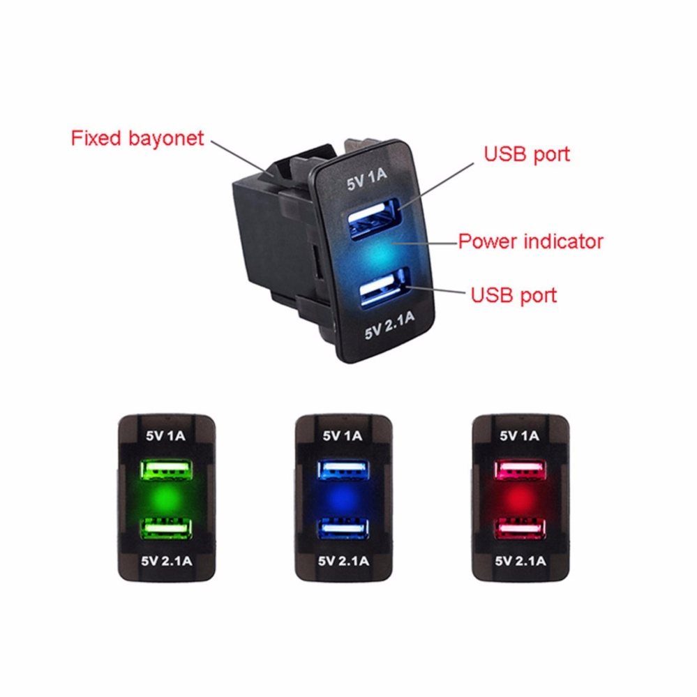 Taffware Smart Car Charger Dual Usb With Lcd Charge Gadget Orico Ucl 2u 24a Untuk Handphone Dc 12v 24v 21a Port Led Socket Power