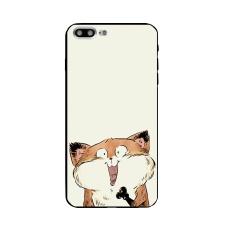 DIY untuk Apple IPhone 7 Plus Case 5.5 Inch Hitam Ponsel Case Custom Desain Lucu Cat Pattern Case-Intl