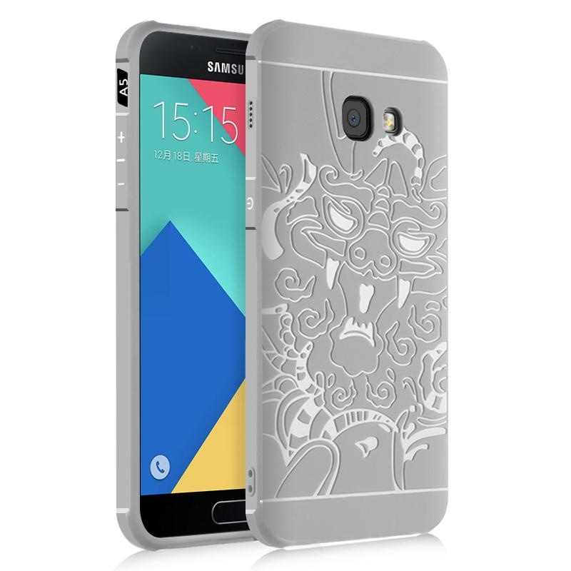 Dragon Debossed Silicon Screen Protective Cover Case for SamsungGalaxy A5 A520 (2017) - intl