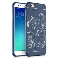 Dragons Silicone Soft Rubber Slim Back Case for OPPO F3 Plus(Blue) - intl