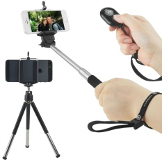 Tripod And Bluetooth Remote Control Handsfree Of Camera Shutter From A Distance Up To 30 Feet For IOS Android Smartphones