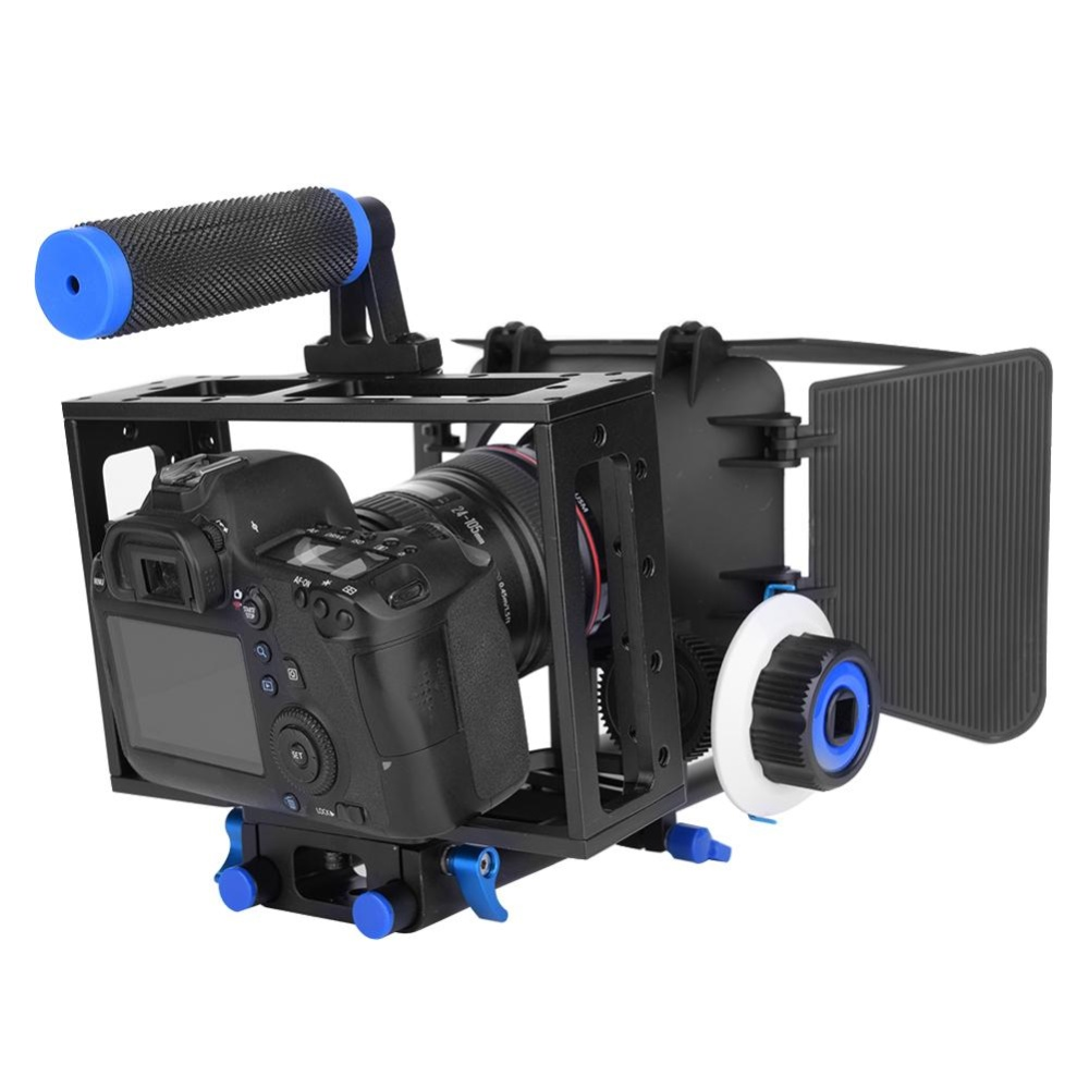 DSLR Cage with Handle Follow Focus Finder Matte Box Rig for DVCamera Camcorder - intl ...